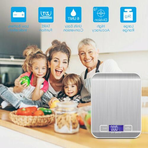 Digital Weighing 5Kg LCD Steel Cooking Food