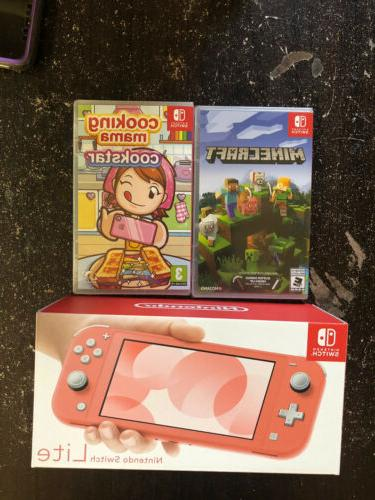 switch lite coral minecraft cooking mama cookstar