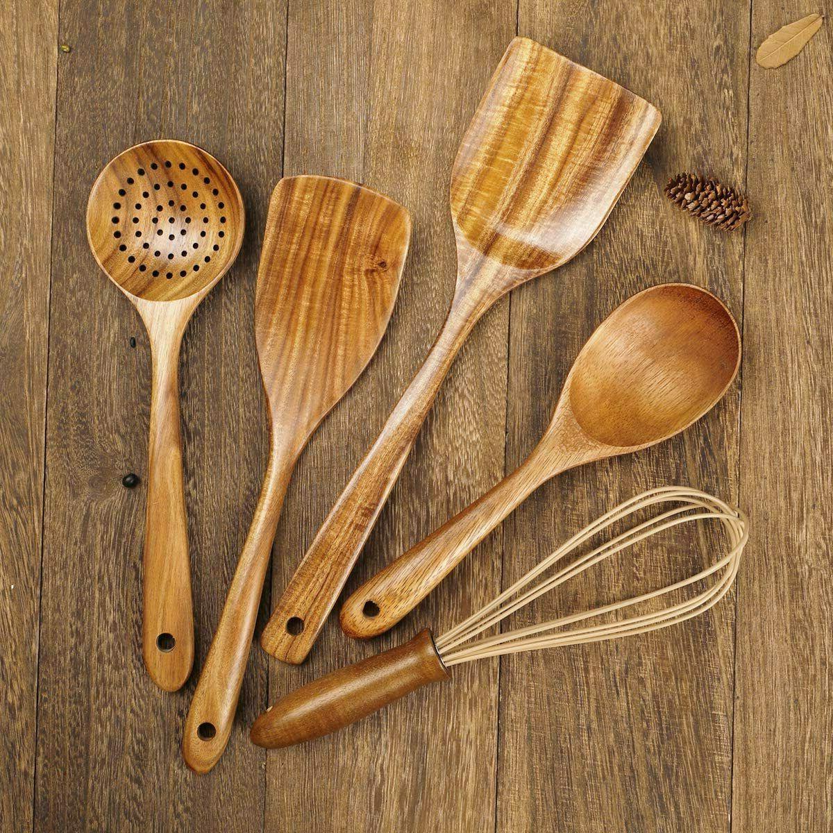 NEW Set,Wooden Cooking Nonstick