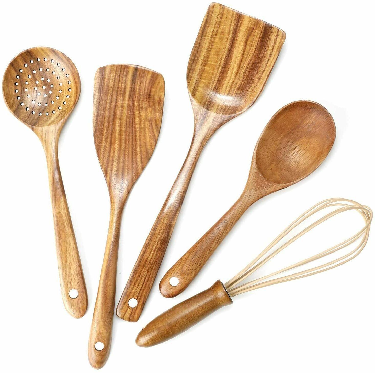 new wooden kitchen utensils set wooden spoons