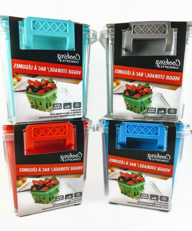 vegetable and fruit storage containers 4 colors