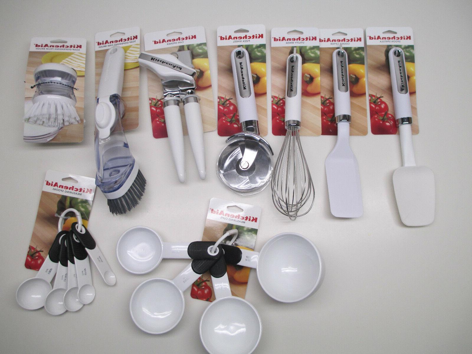 white kitchen utensils