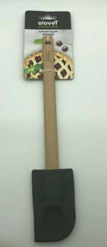 Tovolo Wood Handled Spatula Charcoal