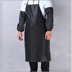 Leather Apron Waterproof Anti-Oil Restaurant Cooking Chef Bi