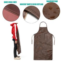 Leather Waterproof Apron Washable Heat Insulation Kitchen Co