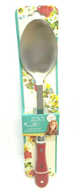 LETS GET COOKING .....The Pioneer Woman Basting Spoon -Red H