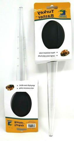 LOT. 2 NEW Turkey & other roasted meats baster BBQ tube blk