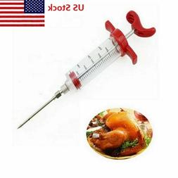 Marinade Injector Flavor Syringe Cook Meat Poultry Turkey Ch