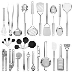Master Chef Stainless Steel Kitchen Cooking Utensil Set 29 P