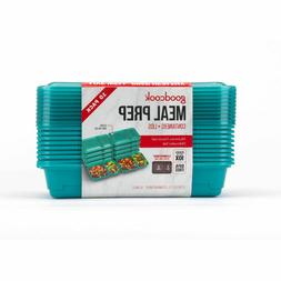 Good Cook Meal Prep Dark Teal Containers + Lids - 10ct