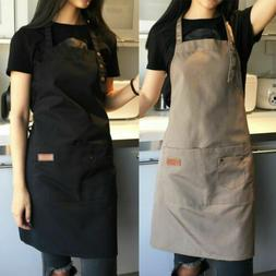 Men Women Adjustable Bib Apron Cooking Kitchen Restaurant Ch