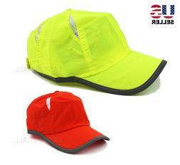 Mens Womens Cool Breathable Reflective Safety Baseball Cap H