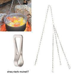 Keith Metal Hanging Pot Cookware Pots Outdoor Camping Access