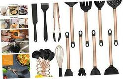 MIBOTE 13PCS Kitchen Utensils Set with Holder, Silicone Cook