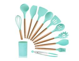 MIBOTE-14pcs Silicone Cooking Kitchen Utensils Set with Hold