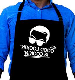 Mr. Good Looking is Cooking - BBQ Grill Apron - Funny Apron