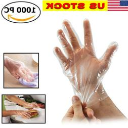 NEW 1000Pcs Plastic Work Gloves Kitchen Cooking Cleaning Res
