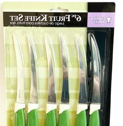 NeW Cooking Basics 6pc Fruit Knife Set Stainless Steel serra