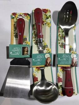 NEW 7 Pcs. Pioneer Woman Stainless Steel Frontier Red Kitche