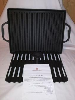 NEW Cook's Essentials cast iron griddle and press 2 pc set