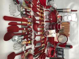 New Empire Red KitchenAid Utensils Gadgets Electrics 90 Piec
