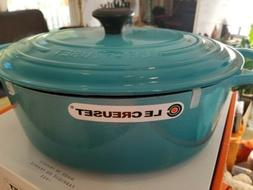 New Le Creuset Enamel Cast Iron 8 Qt Oval Dutch Oven in Rare