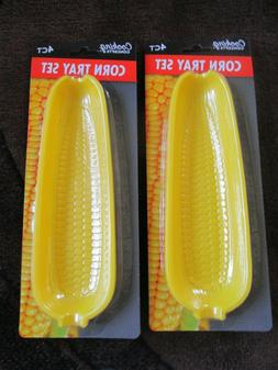 NEW JUMBO PACK  2X CORN TRAY SET, 4 CT EACH, AND TWO CORN HO