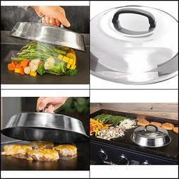 "New Stainless Steel 12"" Basting Cover Griddle Grill Cooking"