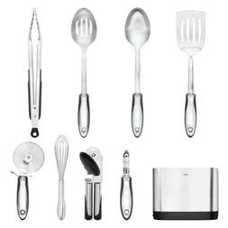 NEW OXO Stainless-Steel 9-Piece Utensil tool Set
