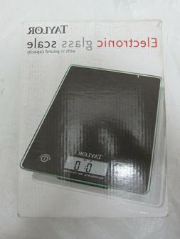 NEW Taylor Electronic Glass Food Cooking Kitchen Scale 11lb