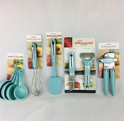 KitchenAid New Utensils Set of 5 -in Aqua