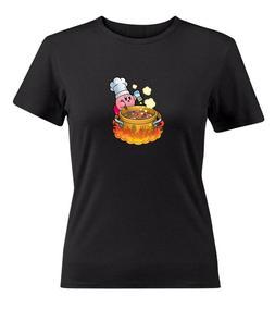 Nintendo Super Star Kirby Cooking Womens Juniors Girls Video