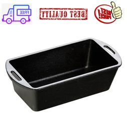 Non Stick Cast Iron Loaf Pan Seasoned Cooking Home Kitchen B