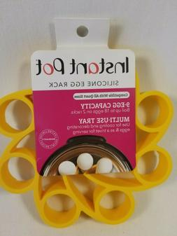 Instant Pot - Official Silicone Egg Rack in Yellow holds 9 e