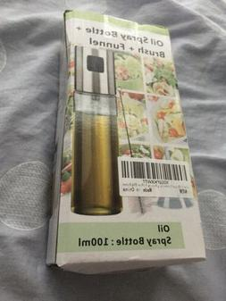 Oil Spray Bottle For COOKING Comes With Brush And Funnel NEW