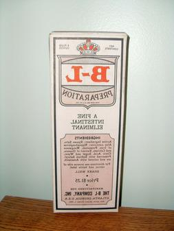 Original 1943 B-L Preparation Laxative Box - NOS