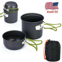 Outdoor Camping Cookware Backpacking Cooking Picnic Bowl Pot