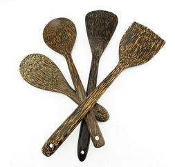 Palm Wood Utensil Natural Spatula Ladle Cooking Handmade Kit