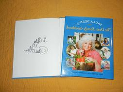 "PAULA DEEN Signed Autograph ""FAMILY COOK BOOK"" TV Show Celeb"