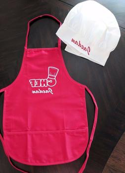Personalized Child's Chef Cooking Apron Chefs Hat kids fun c