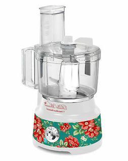 Pioneer Woman Vintage Floral 10 Cup Food Processor with Bowl