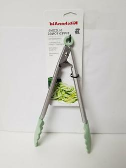 KITCHENAID PISTACHIO SILICONE TIPPED TONGS