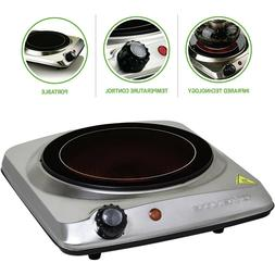 Portable Electric Cooktop Burner Infrared 1000W Single Plate
