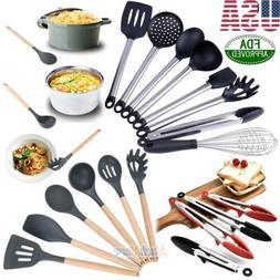 Premium 8 Piece FDA Silicone&Stainless Steel Cooking Utensil