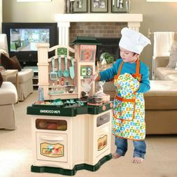 Pretend Cooking Playset Kids Kitchen Toys W/Light Cookware P