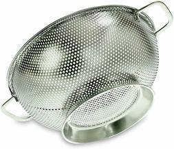 PriorityChef Colander, Stainless Steel 3 Qrt Kitchen Straine