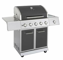 Propane Gas Grill Stainless Steel Summer 5 Burner Station Ou