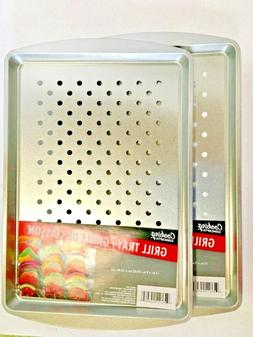 """Cooking Concepts Rectangle Grill Tray Pan 13""""x9"""" BBQ NEW"""