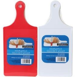 COOKING CONCEPTS RED PLASTIC KITCHEN CUTTING BOARD PADDLE ST