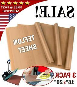 "3pk Reusable Teflon Transfer Sheet For 16x20"" Heat Press Cra"